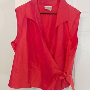 Coldwater Creek wrapped silk blouse